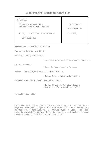 2008 TSPR 70 - Rama Judicial de Puerto Rico