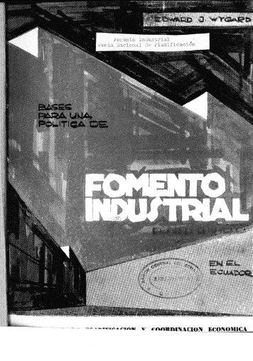 BASES PARA UNA POLITICA DE FOMENTO INDUSTRIAL.pdf