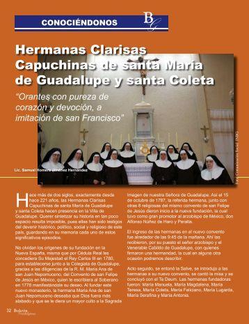 Hermanas Clarisas Capuchinas de santa María de Guadalupe y ...