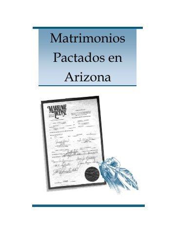 Matrimonios Pactados en Arizona ¿Qué es un Matrimonio Pactado?