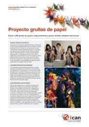Proyecto grullas de papel - ICAN
