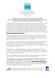 Los Premios Ramsar a la Conservación de los Humedales 2012 por ...