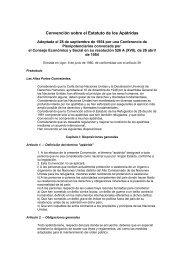 Convención sobre el Estatuto de los Apátridas, hecha en Nueva ...