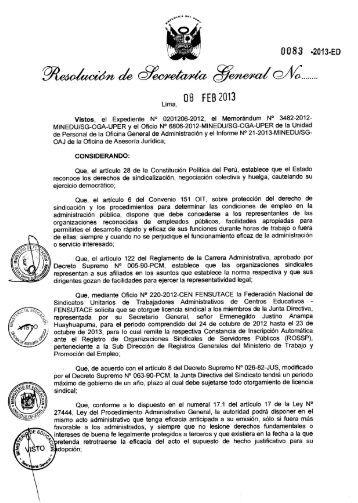 Informe - Ministerio de Educación