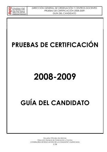 la prueba de certificación - Conselleria d'Educació, Cultura i Esport