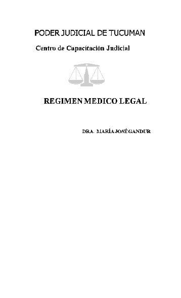 Regimen Medico Legal II - Poder Judicial Tucumán