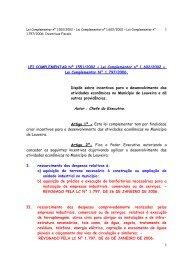 Lei de Incentivos Fiscais - Prefeitura de Louveira