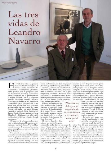 Las tres vidas de Leandro Navarro - Tendencias del Mercado del Arte