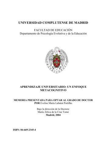 Aprendizaje universitario: un enfoque metacognitivo