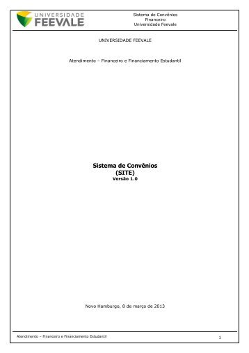 Sistema de Convênios (SITE) - Feevale