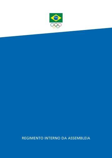 REGIMENTO INTERNO DA ASSEMBLEIA - Comitê Olímpico Brasileiro