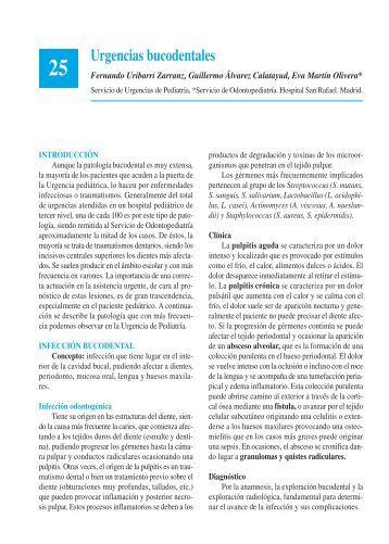 Urgencias bucodentales - Asociación Española de Pediatría