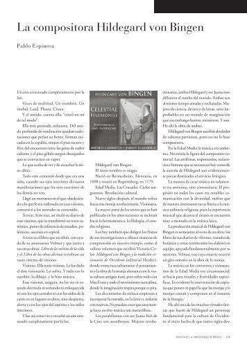 La compositora Hildegard von Bingen - Revista de la Universidad ...