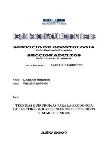 tecnicas quirurgicas para la exodoncia de ... - Hospital Posadas