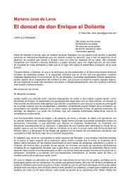 El doncel de don Enrique el Doliente - Proyecto Mariano José de ...