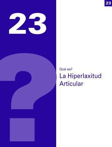 La Hiperlaxitud Articular