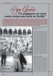 Lea la entrevista con Pepe Limeño. - Las Ventas
