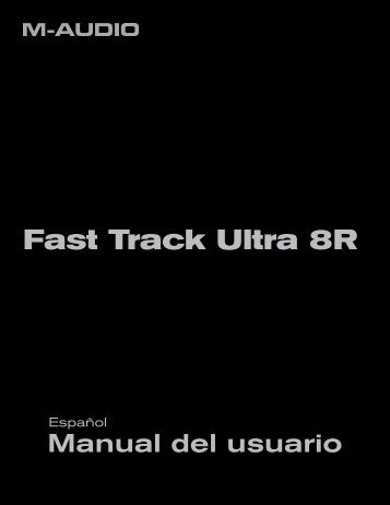 Fast Track Ultra 8R | Manual del usuario - M-Audio