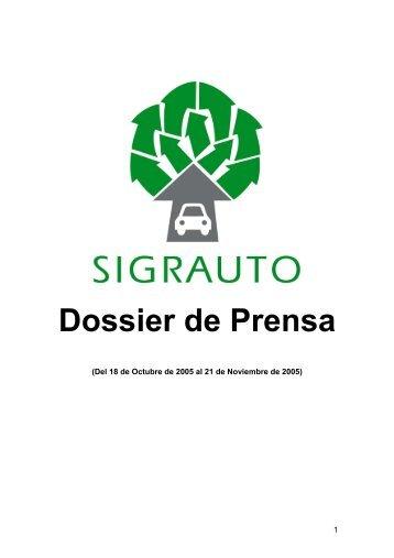 Dossier de Prensa - Sigrauto