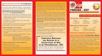 fnscba - cgt - Fédération Nationale des Salariés de la Construction ...