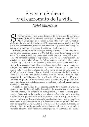 Severino Salazar y el carromato de la vida