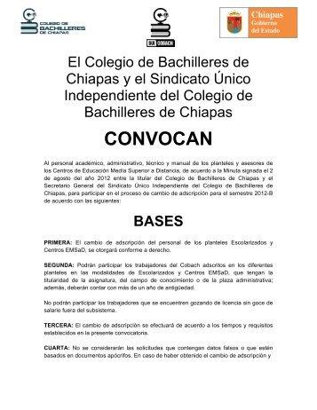 CONVOCAN - cobach