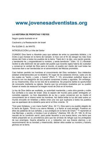 LA HISTORIA DE PROFETAS Y REYES Según ... - Iasdsanjudas.com