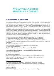 atm-articulacion de mandíbula y cráneo - Clínica dental en Madrid