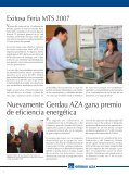 Presidenta Bachelet, lanza programa para ... - Gerdau AZA - Page 6