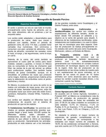 Monografía de Ganado Porcino - Financiera Rural