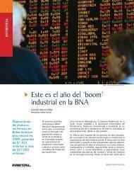Este es el año del 'boom' industrial en la BNA - Revista Metal Actual