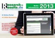 Mediadaten Online 2013 - Research & Results