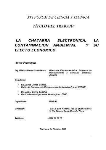 La chatarra electrónica - Forum de Ciencia y Técnica