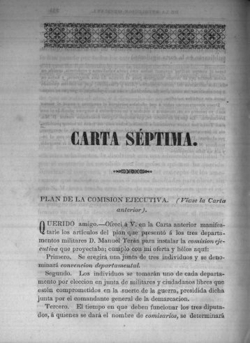 CARTA SEPTIMA, - Bicentenario