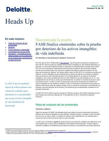 Heads Up - IAS Plus