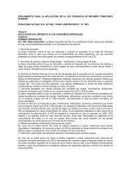 reglamento para la aplicación de la ley organica de regimen ...