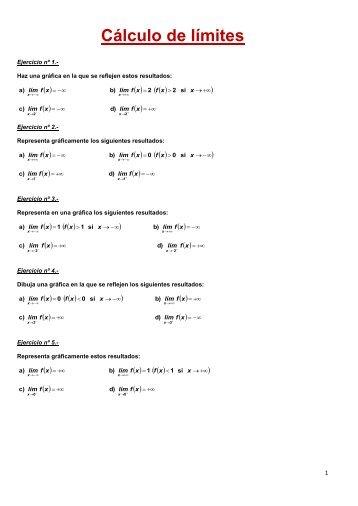 Cálculo de límites - Amolasmates