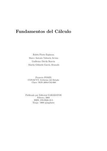 Fundamentos del Cálculo - Departamento de Matemáticas ...