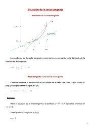 Ecuación de la recta tangente - Amolasmates