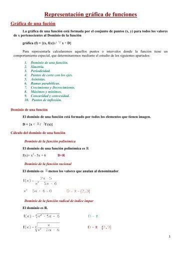 Representación gráfica de funciones - Amolasmates
