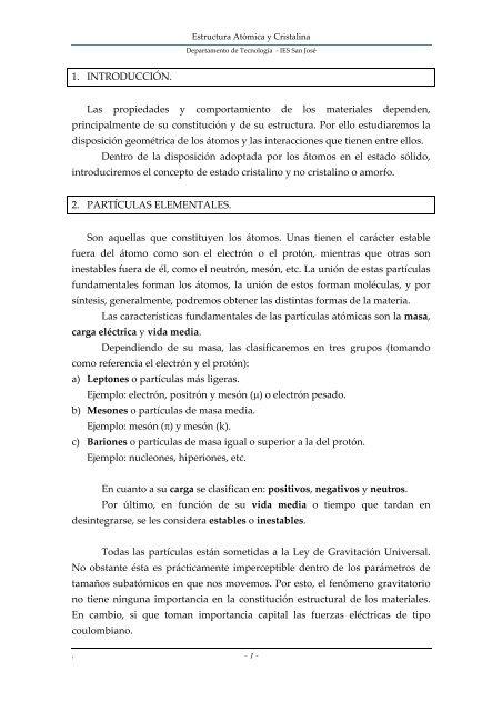 Estructura Atómica Y Cristalina Tecnologiafuentenueva