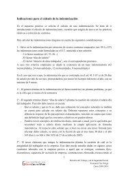 Indicaciones para el cálculo de la indemnización
