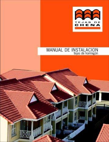 MANUAL DE |NSTALAC|ON - Tejas de Chena