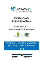 Indicadores de sostenibilidad de Astigarraga 2012