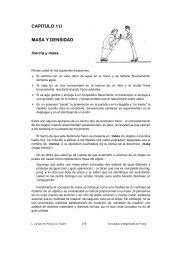 CAPITULO VII MASA Y DENSIDAD