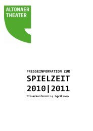 SPIELZEIT 2010 2011 - Altonaer Theater