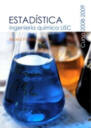 ESTADÍSTICA - Departamento de Estatística e Investigación Operativa