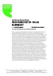 MEISTERDETEKTIV KALLE BLOMQUIST ... - Altonaer Theater