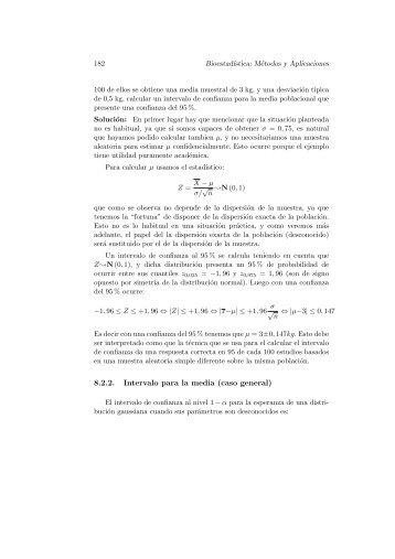 8.2.2. Intervalo para la media (caso general)