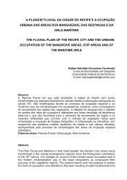 a planície fluvial da cidade do recife ea ocupação urbana das áreas ...